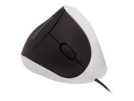 Global Marketing Partners Comfi Ergonomic USB Mouse, White, EM011W, 33150312, Mice & Cursor Control Devices