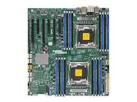 Supermicro Motherboard, E-ATX X10DAi C612 (2x)E5-2600 v3 Family Max.1TB DDR4 10xSATA 6xPCIe 2xGbE, MBD-X10DAI-O, 18108669, Motherboards
