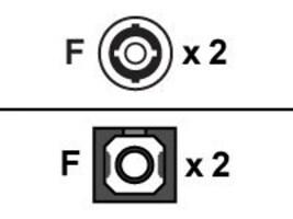 Black Box Fiber Optic Adapter, ST–SC, Multimode, Duplex, Rectangular Mounting, FOT116, 13207051, Cable Accessories