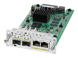 Cisco 2-Port GbE WAN Expansion Module for Cisco 4451-X, NIM-2GE-CU-SFP=, 29658893, Network Routers