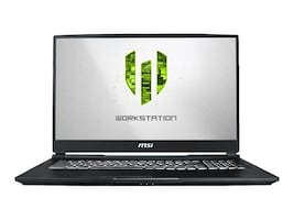 MSI WE75 9TK-875 Xeon E-2176M 2.7GHz 32GB 512GB PCIe ac BT WC RTX 3000 17.3 FHD W10P, WE75875, 37513926, Workstations - Mobile