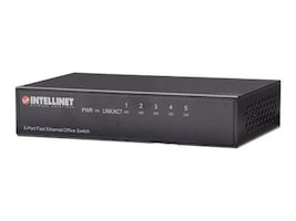 Intellinet 5-Port Fast Ethernet Office Switch, 523301, 15175604, Network Switches