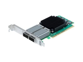 Atto FastFrame N312 2-Port 25 40 50 100GbE QSFP28 PCIe 3.0 NIC, FFRM-N312-DA0, 35155037, Network Adapters & NICs