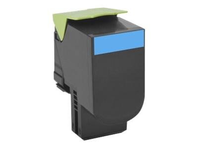 Lexmark 701HC Cyan High Yield Return Program Toner Cartridge, 70C1HC0, 14909371, Toner and Imaging Components