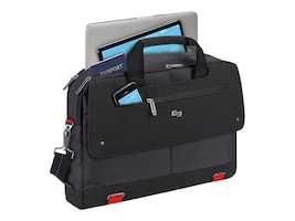 SOLO 15.6 Mission Briefcase, Black, PRO300-4, 35982198, Carrying Cases - Notebook