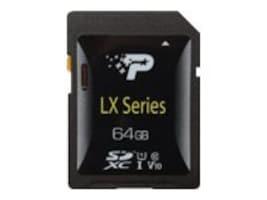 Patriot Memory 64GB SDXC LX Series Flash Memory Card, PSF64GLX1SDX, 36053761, Memory - Flash