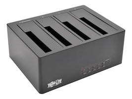 Tripp Lite 4-Bay USB 3.0 eSATA to SATA Docking Station w  Cloning, 2.5 to 3.5 SATA Hard Drives, U339-004, 33557956, Hard Drive Enclosures - Multiple