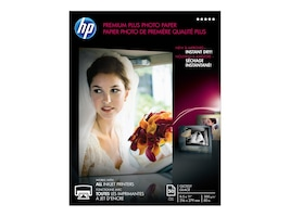 HP 8.5 x 11 Premium Plus Glossy Photo Paper (50-Sheets), CR664A, 12870302, Paper, Labels & Other Print Media