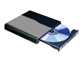 I O Magic DVD+ -RW Slim External Drive, IDVD8PB2, 11097389, DVD Drives - External