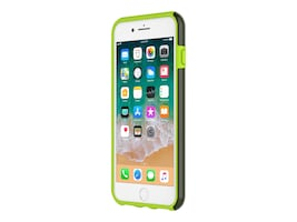 Incipio DualPro Dual Layer Protective Case for iPhone 7 Plus iPhone 8 Plus, Smoke Volt Green, IPH-1491-SVT, 34609455, Carrying Cases - Phones/PDAs