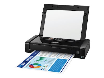 Epson WorkForce WF-110 Wireless Mobile Printer, C11CH25201, 37731018, Printers - Ink-jet
