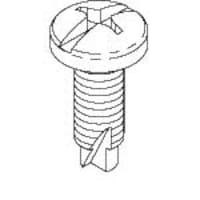 Chatsworth 12-24 Combination Pan Head Pilot Point Mounting Screws 1000-Pack, 40605-004, 5861897, Stands & Mounts - AV