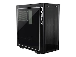eVGA Chassis, DG-75 Matte Black Mid-Tower, 2 Sides of Tempered Glass, Gaming Case, 150-B0-2020-KR, 34890603, Cases - Systems/Servers