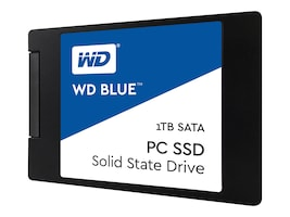 WD 1TB WD Blue SATA 6Gb s 2.5 7mm Cased Internal Solid State Drive, WDS100T1B0A, 32961990, Solid State Drives - Internal