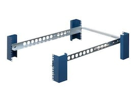 Innovation First Tool-Less Fixed Rack Rail, Square Hole for 4-Post Rack, 1U, 1UKIT-109-QR, 9392645, Rack Mount Accessories