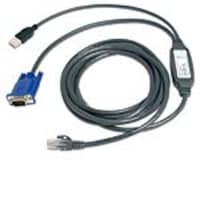 Avocent USB Cat5 Integrated Cable For AutoView KVM Switch, 15ft, USBIAC-15, 5923111, Cables
