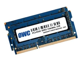 Other World 4GB PC3-8500 204-pin DDR3 SDRAM SODIMM Kit, OWC8566DDR3S4GP, 36587923, Memory