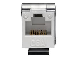 Tripp Lite Cat6a 110-Style Punchdown RJ45 Keystone Jack, White, TAA, N238-001-WH-6A, 34605999, Premise Wiring Equipment