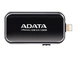 A-Data 128GB i-Memory UE710 OTG USB 3.0 Flash Drive, Black, AUE710-128G-CBK, 31057683, Flash Drives