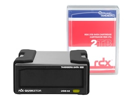 Overland 2TB Tandberg USB 3.0 + RDX QuikStor External Drive Kit w  2TB Cartridge, 8865-RDX, 33565403, Removable Drive Cartridges & Accessories