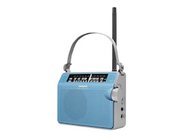 Sangean AM FM Compact Analog Radio with Lighted Display, Blue, PR-D6BU, 13712904, Stereo Components