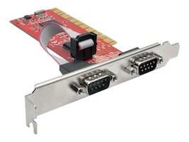 Tripp Lite 2-Port DB9 RS-232 Serial PCI Full Profile Card with 16550 UART, PCI-D9-02, 32297726, Controller Cards & I/O Boards