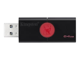 Kingston 64GB USB 3.0 DataTraveler 106 Flash Drive, DT106/64GB, 35868088, Flash Drives