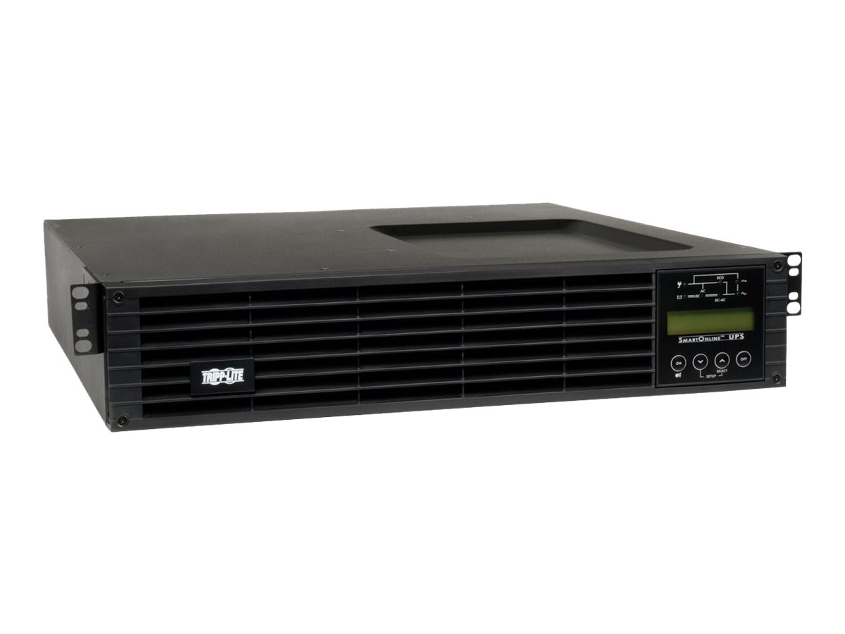 Tripp Lite SmartOnline 2.2kVA 120V, Double-conversion Online UPS 2U Rack Tower, SU2200RTXLCD2U, 13821570, Battery Backup/UPS