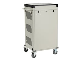 Black Box 33-Unit Deluxe Cart - Wireless Charging, Sliding Door, Keylock, UCCSW-11-33T, 34153574, Computer Carts