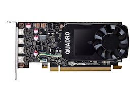PNY NVIDIA Quadro P1000 PCIe 3.0 x16 Graphics Card, 4GB GDDR5, VCQP1000-PB, 33761586, Graphics/Video Accelerators