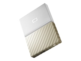 WD 1TB My Passport Ultra USB 3.0 Portable Hard Drive - White Gold, WDBTLG0010BGD-WESN, 34255634, Hard Drives - External