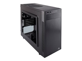 Corsair Chassis, Carbide Series 88R MicroATX Mid-Tower 2x3.5 Bays 2x2.5 Bays 4xSlots, Black, CC-9011086-WW, 30876062, Cases - Systems/Servers