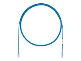 Panduit CAT6A 28AWG UTP Patch Cable, Blue, 7ft, UTP28X7BU, 21982795, Cables