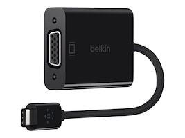 Belkin USB Type C (USB-C) to VGA M F Adapter, Black, F2CU037BTBLK, 30880168, Adapters & Port Converters