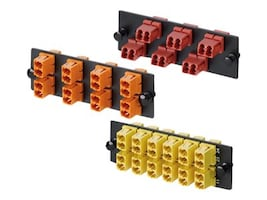 Panduit 12 Position Keyed C-Green Duplex LC Adapter Panel, FAP12WCGRDLCZ, 34524902, Patch Panels