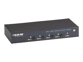Black Box 4x1 VGA Switch w  Serial & Audio, AVSW-VGA4X1A, 34506940, Switch Boxes - AV