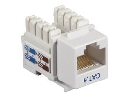 Black Box Connect CAT6 RJ-45 Keystone Jack, Unshielded, White, CAT6J-WH, 32990969, Premise Wiring Equipment