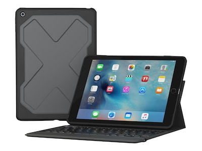 Zagg Rugged Messenger Keyboard Folio Case for 10.5 iPad Pro, Black, ID9RMK-BB0, 34286983, Carrying Cases - Tablets & eReaders