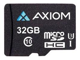Axiom 32GB MicroSDHC UHS-I U3 Flash Memory Card, Class 10, MSDHC10U332-AX, 35524672, Memory - Flash
