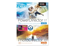 Cyberlink POWERDIRECTOR 17 ULTRA AND     DVD PHOTODIRECTOR 10 ULTRA PHOTO, PNP-E200-RPT0-01, 36207257, Software - Video Editing