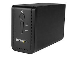 StarTech.com USB 3.1 Dual 3.5 SATA 6Gb s USB-C & USB-A Hard Drive Enclosure w  RAID, S352BU313R, 34031850, Hard Drive Enclosures - Multiple