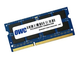 Other World 4GB PC3-8500 204-pin DDR3 SDRAM SODIMM, OWC8566DDR3S4GB, 35019633, Memory