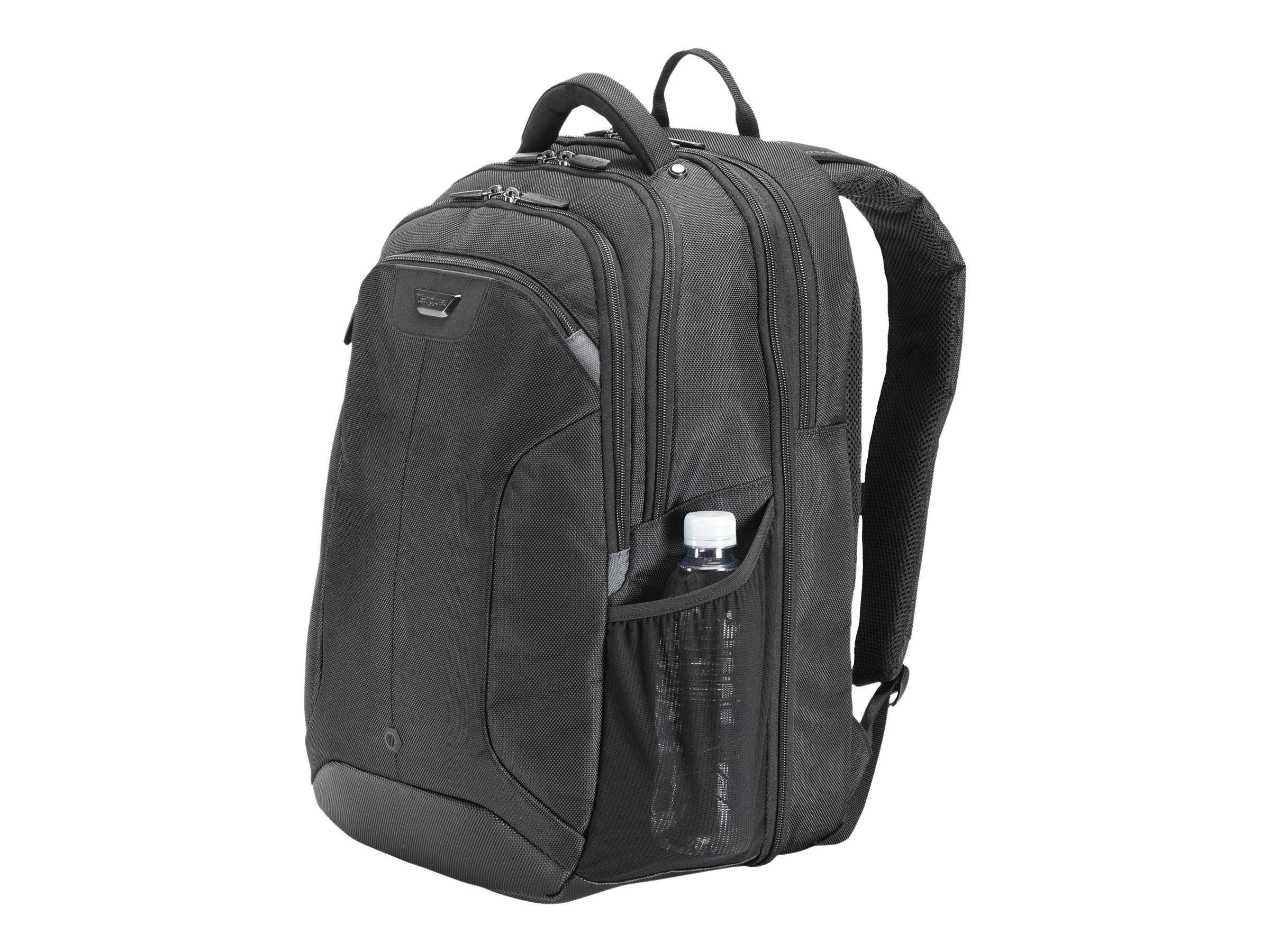Targus Corporate Travel Backpack, 15.4 Nylon, Black, CUCT02B, 8058696, Carrying Cases - Notebook