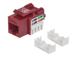 Manhattan Cat5e UTP Keystone Jack, Red, 210478, 31010711, Cable Accessories