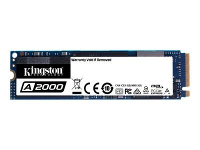 Kingston 500GB A2000 NVMe PCIe Gen 3.0 x 4 Lanes M.2 2280 Internal Solid State Drive, SA2000M8/500G, 37403823, Solid State Drives - Internal