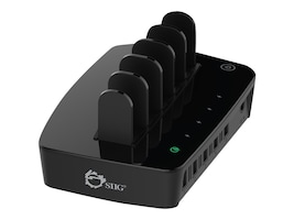 Siig 5-Port Smart USB Charging, AC-PW0X12-S1, 31064197, Battery Chargers