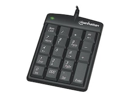 Manhattan 19-Key USB Numeric Keypad Win 2000 XP Vista 7,  Black, 176354, 16297726, Keyboards & Keypads