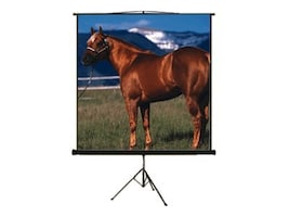 Mustang AV Projection Screen with Tripod, Matte White. 4:3, 100in, SC-T100D43, 8125861, Projector Screens