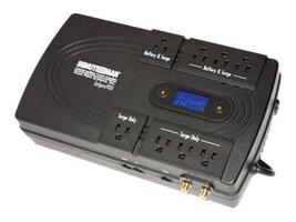 Minuteman EnSpire Standby UPS 900VA 500W, USB Port, (8) 5-15R Outlets, LCD, EN900, 9977707, Battery Backup/UPS