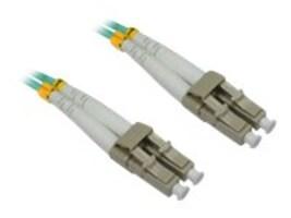 4Xem LC-LC M M 50 125 Duplex Fiber Optic Patch Cable, Aqua, 20m, 4XFIBERLCLC20M, 16921883, Cables